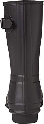 Hunter Original Botas de Lluvia Cortas para Mujer, Negro, 6 US