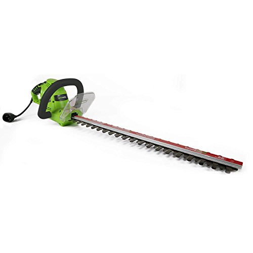 Greenworks 22-Inch 4 Amp Dual-Action Corded Hedge Trimmer 22122 (Black And Decker 17 Inch Electric Hedge Trimmer)