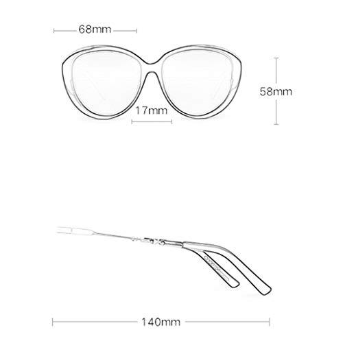 en Lunettes B de Eye New métal Soleil Sport Mirror Cadre lunettes Conduite Couleur de Grand Femme soleil de à Des B Fashion polarisées Miroir XTqwg5