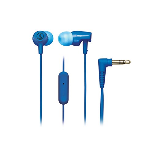 Audio-Technica SonicFuel ATH-CLR100ISBL In-Ear Headphones with Mic (Blue)