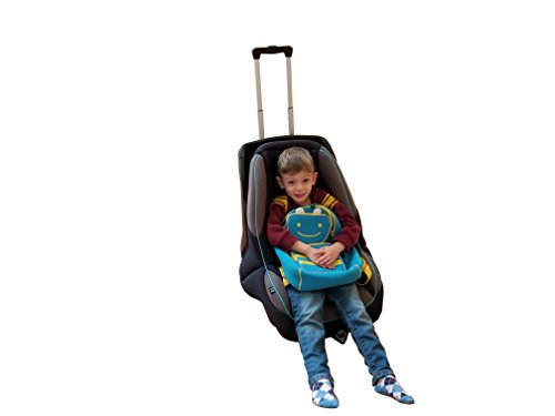 Holm Airport Car Seat Stroller Travel Cart and Child Transporter - A Carseat Roller for Traveling. Foldable, storable, and stowable Under Your Airplane seat or Over Head Compartment. by hölm (Image #1)