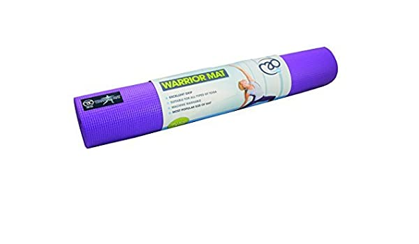 Amazon.com : Yoga-Mad Warrior Mat 4mm - Purple by Yoga Mad ...