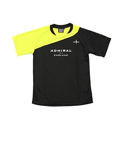 バズ時々発掘するアドミラル ジュニア サッカーウェア 半袖シャツ 半袖プラクティスシャツ AD540413H02 BK 140