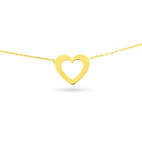 Tousmesbijoux Collier coeur en Or jaune 375/00