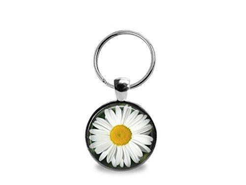 (White Daisy Key Chain)