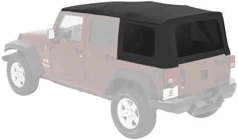 Black Diamond w//Tint Windows RAMPAGE PRODUCTS 919935 Factory Replacement Sailcloth Soft Top for 2011-2018 Jeep Wrangler JK 2 Door