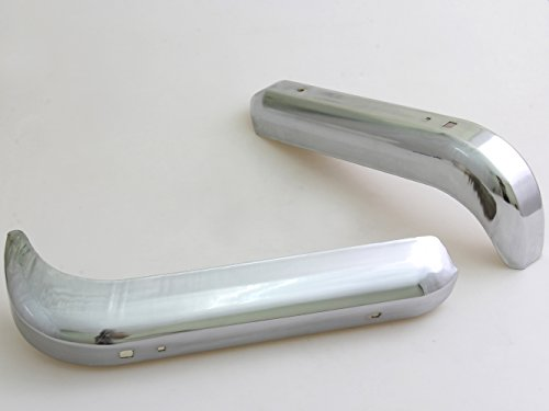Rear Chrome Steel Bumpers New Pair 2 Pieces LH&RH Fit for Nissan Datsun 520 521 620 UTE 510 320 720; 1968-1985