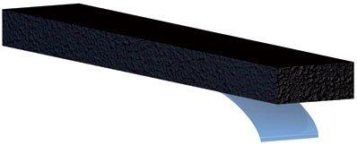 Ellen france calfeutrage - Joint souple d'etancheite en caoutchouc-souple et flexible i - Long. m.15 - Coloris.Noir