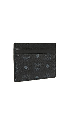 MCM Men's Visetos Men's Visetos Card Case Card Black MCM Case tpqP7AWWn