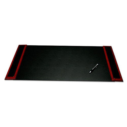 Dacasso Rosewood and Leather Desk Pad with Side-rails, 34 by 20 Inch