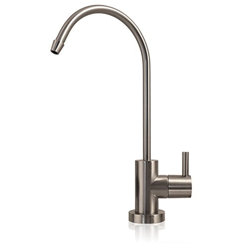 MODERN Ceramic Disc Designer Faucet Coke Shaped Non-Air Gap Faucet, Brushed Nickel