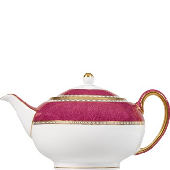 Wedgwood Ulander Powder Ruby Teapot - Wedgwood Ulander Powder