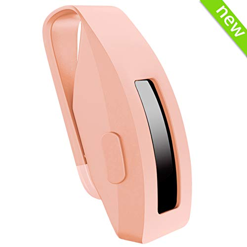 HSWAI [Updated Version] Clip Replacement for Fitbit Inspire & Fitbit Inspire HR, Made of Soft Comfortable Silicone, 360°Protection [No More Lost Trackers](Clip-Light Pink) (Best Food Tracking App With Fitbit)