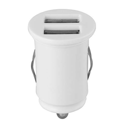 Ultra Compacto Mini Autom/óvil Mini Universal USB Doble Puerto 5V 2.1A Cargador de Coche para tel/éfono m/óvil//Pad 20 mm Mp4 Mp3 L * D FinukGo 40