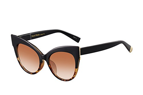 Oversized Cat Eye Frame UV400 Womens Sunglasses , Black Fashion Trend Eyewear - Sunglass Trend