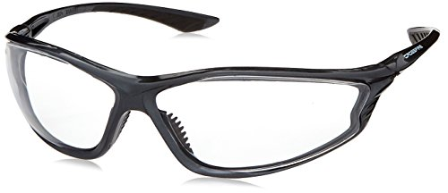 Crossfire 3464 KP6 Safety Glasses Clear Lens - Shiny Pear Grey Frame