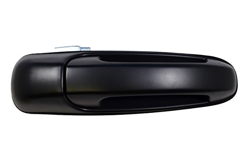 PT Auto Warehouse CH-3813S-FRK - Outside Exterior Outer Door Handle, Smooth Black - without Keyhole, Passenger Side Front