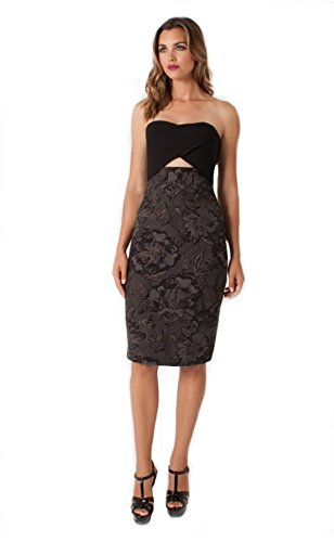 Buy black halo cut out dress - 6