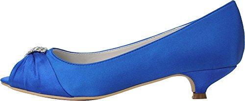 EU 36 Bleu Bleu Ouvert 5 CFP Bout Femme PfqHHT0