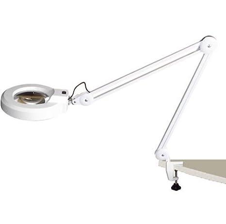110V QO 8X Magnifier Led Lamp Light Magnifying Glass Lens Desk Table Clamp