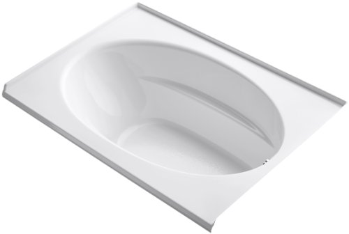 KOHLER K-1113-R-0 Windward 5-Foot Bath with Drain on Right, White