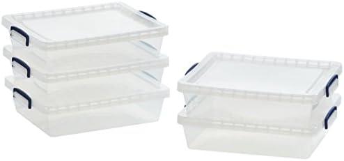 AmazonBasics - Cajas de almacenamiento de plástico con tapas ...