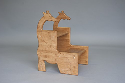 Bamboo Giraffe Stool; Giraffe Nursery by Pop-Pop's Children's Furniture Company