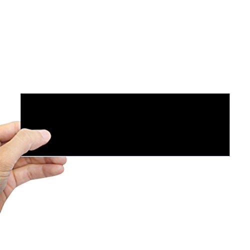 CafePress Solid Black Color Bumper Sticker 10