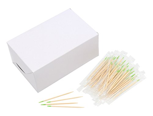 (2.6 Inch Length Individually Wrapped Mint Flavor Wooden Toothpicks Wood Toothpick Premium Quality 1000pcs)