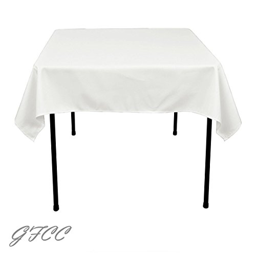 Amazon.com: GFCC 120 X 120  Inch White Square Polyester Tablecloth From  USA: Kitchen U0026 Dining