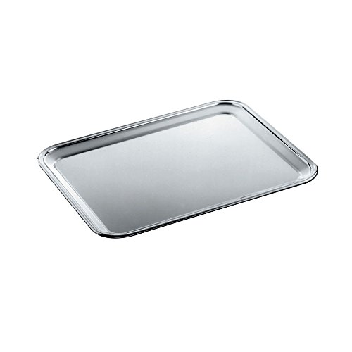 Alessi 335 Ufficio Tecnico Alessi Rectangular Tray with Mirror Polished Edge by Alessi