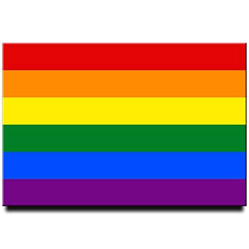 Rainbow flag gay pride flag LGBT pride flag fridge magnet ()