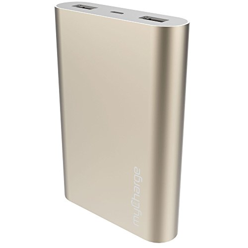 - myCharge RazorUltra Portable Charger 12000mAh / 3.4A Dual USB Port External Battery Pack Power Bank for Cell Phones (Apple iPhone XS, XS Max, XR, X, 8, 7, 6, SE, 5, Samsung Galaxy, LG, Motorola, HTC)