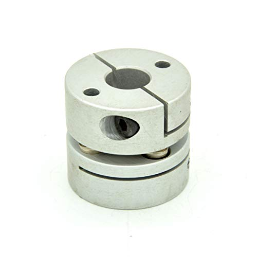 RobotDigg DFC34L31S Single Disc Flexible Coupling 8mm to 12mm Motor Wheel Flexible Coupling Joint Silver Color Diaphragm Coupling Pack of 2pcs by RobotDigg