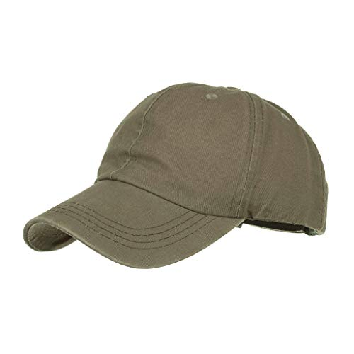 Unisex Summer 100% Cotton Vintage Baseball Hat, Classic Soft Adjustable Sport Visor Hat Low Profile Cap with UV Protection Green