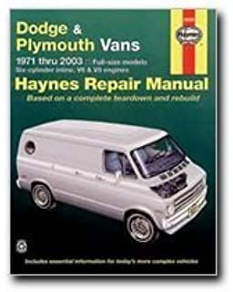 Dodge vans 1989 98 chilton total car care series manuals chilton haynes repair manuals dodge plymouth vans 71 03 excludes information specifi fandeluxe Gallery