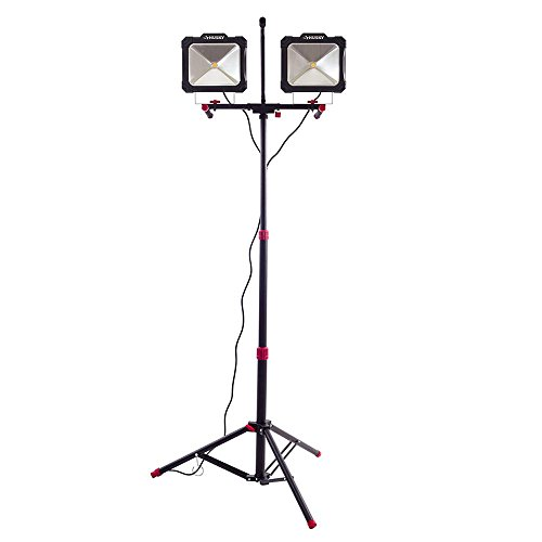 r Light Angle 7000-Lumen Twin-Head LED Worklight with Detacheable Tripod Telescopes to 76 in. and Soft Grip Handles (Husky Light)