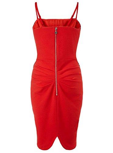 E-Girl FOB60029 Rouge femme moulante Robe de soirée,M