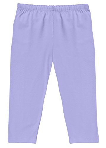 - CAOMP Girl's Capri Crop Leggings, Organic Cotton Spandex, School or Play Lavender 11 / 12