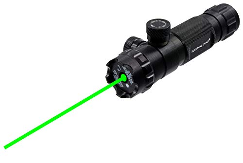 Survival Land LS-300 Shockproof 532nm Tactical Green Laser Sight, Rifle Gun Scope - Includes 20mm Picatinny Rail, 1