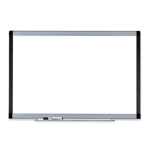 Lorell Magnetic Dry-Erase Board, 6-Feet by 4-Feet, Silver/Ebony