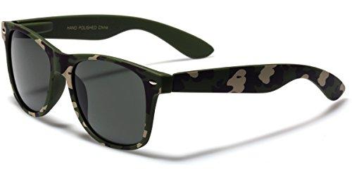Classic Men's Retro Sunglasses - Camouflage Smooth Matte Finish - Cheap Best Sunglasses Wayfarer