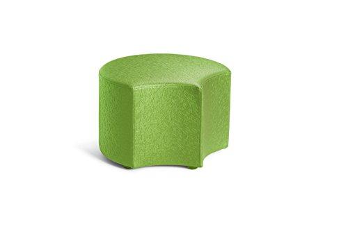 Logic Furniture MOONFCU06 Moon 4 Face Ottoman, 6'', Cucumber by Logic Furniture