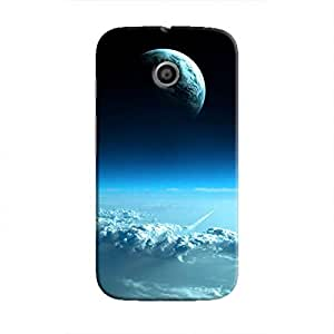 Cover It Up - Blue Planets from Space Moto E Hard Case