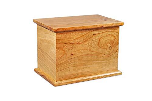 Candor Funeral Urn in Cedar - Handcrafted in Wisconsin