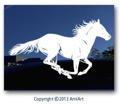 Amazoncom HORSE Decal Extra X LARGE  X  Inch Facing - Horse decals for trucks