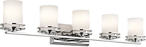 Kichler 5085CH Bath 5-Light, Chrome (Light Five Fixture Bath Chrome)
