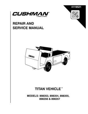 amazon com ezgo 4119521 1991 current service manual titan rh amazon com 1991 ezgo parts manual 1991 ezgo marathon owners manual