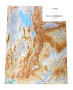 (Utah Topographic Wall Map by Raven Maps, Laminated Print)