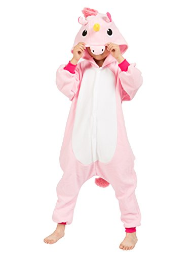 BELIFECOS Childrens New Pink Unicorn Costumes Animal Onesies Kids Homewear Pajamas 125
